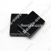 black agate(natural),18X25mm Rectangle beads