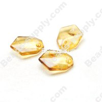 Amber color Beads 14x19mm