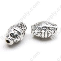 Antique Silver Acrylic Spindly Beads 13x19mm