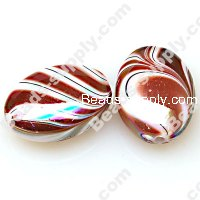 Bead, Spray-Painted acrylic beads, coffee color, 20x15x8mm painted flat oval . Sold per pkg of 340 PCS