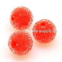 Bead, acrylic, orange, 12mm round beads . Sold of 200 Pieces