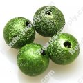 Bead,acrylic shimmering beads,green,wrinkle Round Beads 10mm
