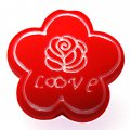 Beads,10x24mm satin flower beads,red rubberized beads,sold of 100 pcs per pkg