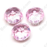 Briolette Glass Beads 11mm*14mm,Pink