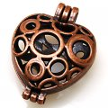 Charm,antique copper(zinc-based alloy), 30x41mm openable heart charm,sold per pkg of 50PCS