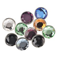 Faceted glass top ,Interchangeable Snap Charm ,sold of 12 pcs
