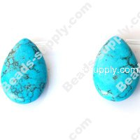 Imit.Turquoise 18x26mm Teardrop Shape Beads