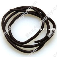 Leather Cord 2mm,Dark Coffee