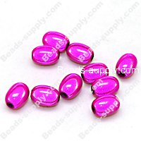 Miracle Beads Oval / Rice 8*11mm , Fuchsia