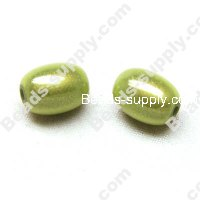 Miracle Beads Oval / Rice 8*11mm , Lt Green