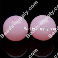 Acrylic Jelly Round Bead 10mm , Pink