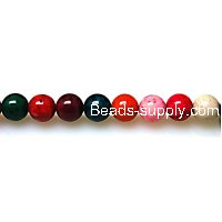 Bead ,Dyed Fossil beads ,round 8mm , mixed color