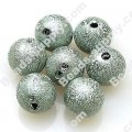 Bead,acrylic shimmering beads,Lt Blue,wrinkle Round Beads 4mm