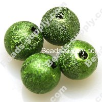 Bead,acrylic shimmering beads,green,wrinkle Round Beads 8mm