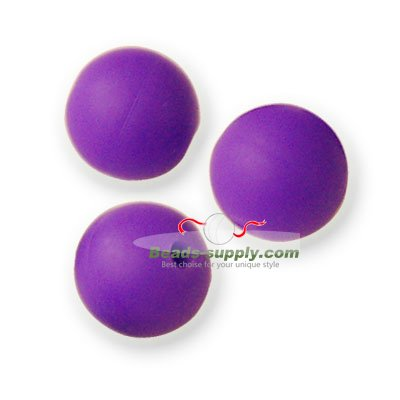 Beads,Silicon Beads,10mm Round Beads,Purple - Click Image to Close
