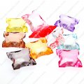 Beads,transparent acrylic faceted cross beads,255 pcs