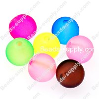 Beads,transparent acrylic plain round beads,10mm satin beads,assorted color