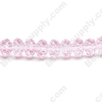 Briolette Glass Beads 6mm*8mm,Pink