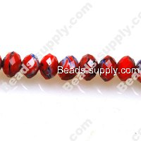 Briolette Lampwork Beads,6*8mm Red