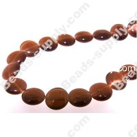 Cats Eye Coins Beads 10mm