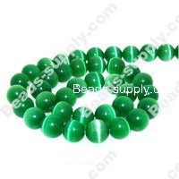 Cats Eye Round Beads 10mm,Green