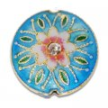 Cloisonne Flat Round Beads 20 mm