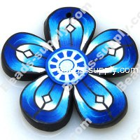 Fimo Pendant 8*50mm , Blue