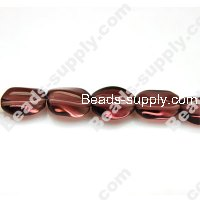 Glass Beads Twist 8x11 mm