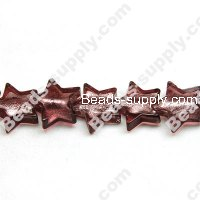 Glass Silver Foiled Star Beads 18mm