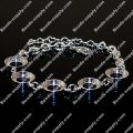 Immitation kameleon 5 round bracelet,925 silver plated
