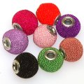 Indonesia Jewelry Beads, Drum shape,handmade beads with seed beads,mixed