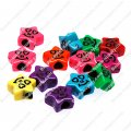 Large hole beads,plastic beads,assorted color,star