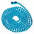 Metal ball chain,2,4mm ball,Aquamarine