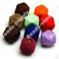 Nylon Cord Faced Beads 17*17mm