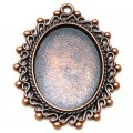 Pendants,29*39mm Oval Cameo Cabochon Base Setting Pendants,Antique Copper Plated,Sold 100 Pcs Per Lot