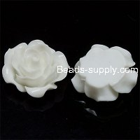 Resin Flower Cabochon, layered, white ,more colors for choice, 13mm, Sold by 200 pieces
