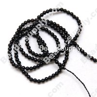 black agate(natural), 2mm Round beads