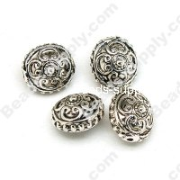 Antique Silver Acrylic Beads 15x15x10mm