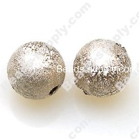 Bead,acrylic shimmering beads,cream,wrinkle Round Beads 12mm