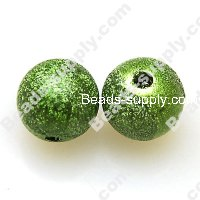 Bead,acrylic shimmering beads,green,wrinkle Round Beads 12mm