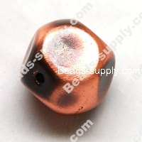 Beads,24mm Brushing Antique Copper Acrylic Beads , Brushing Copper