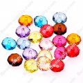 Beads,transparent acrylic faceted roudelle beads,5x8mm