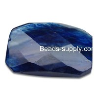 Blue Watermelon 32x42mm Shapelessness Angle Beads
