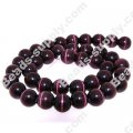 Cats Eye Round Beads 10mm,Purple