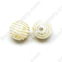 Clear Gilding Silver Line Beads 10mm