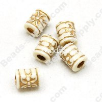 Clear Gilding Silver Line Beads 7x6mm