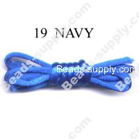 Cord, Bugtail, satin, navy, 2mm.