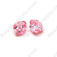 Gilding Silver Line Beads 12mm ,Pink