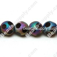 Glass Beads Faced Black Beads 12mm