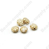 Gold Plating Flower Beads 9mm